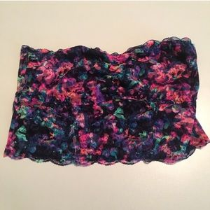 PINK Multicolored Lace Bandeau
